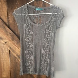 FOREVER 21 Lace short sleeve shirt
